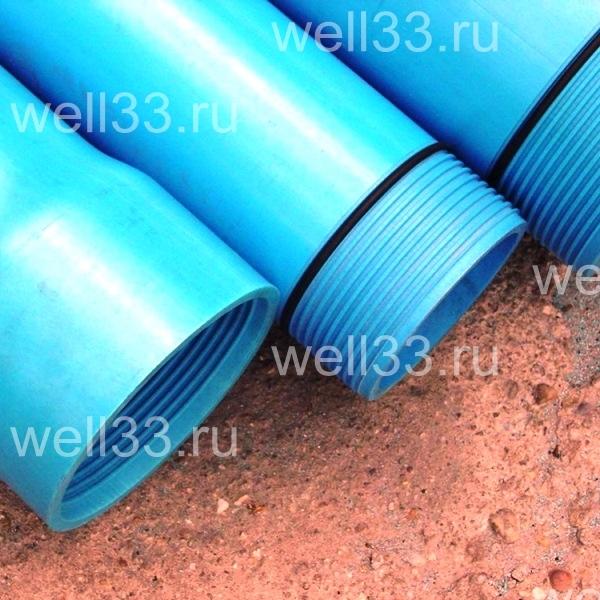 Скважины на воду из нПВХ труб - защита от ила резиновыми кольцами